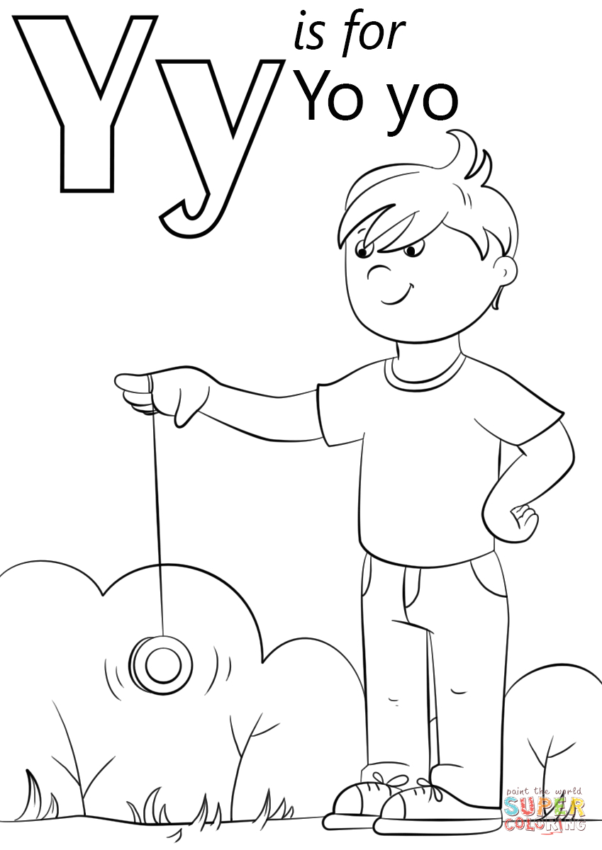 Y is for Yo Yo Coloring Page Letter Y is for Yo Yo Coloring Page From Letter Y Category