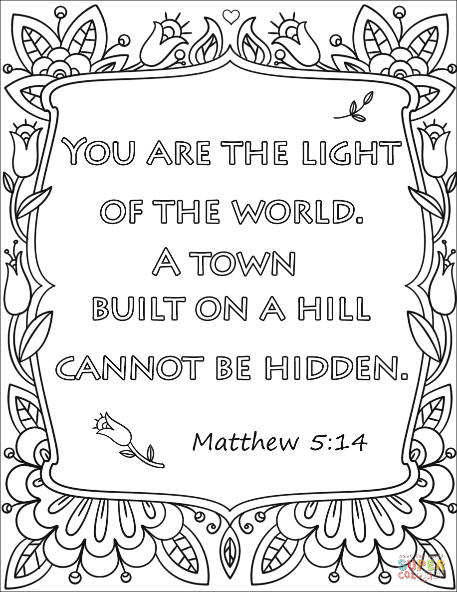 you are the light of the world a town built on a hill cannot be hidden
