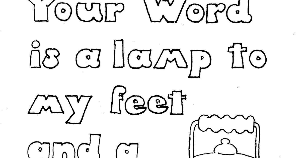 your word is lamp to my feet coloring