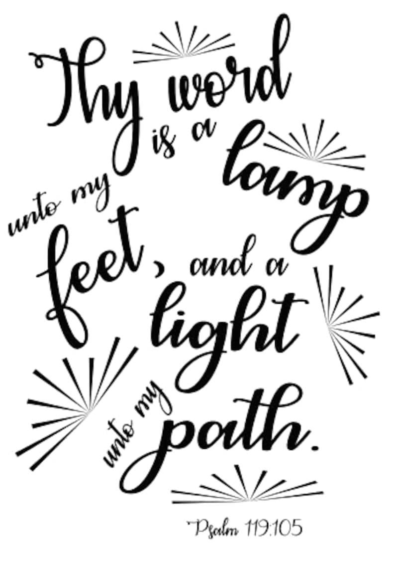 thy word is a lamp unto my feet and a