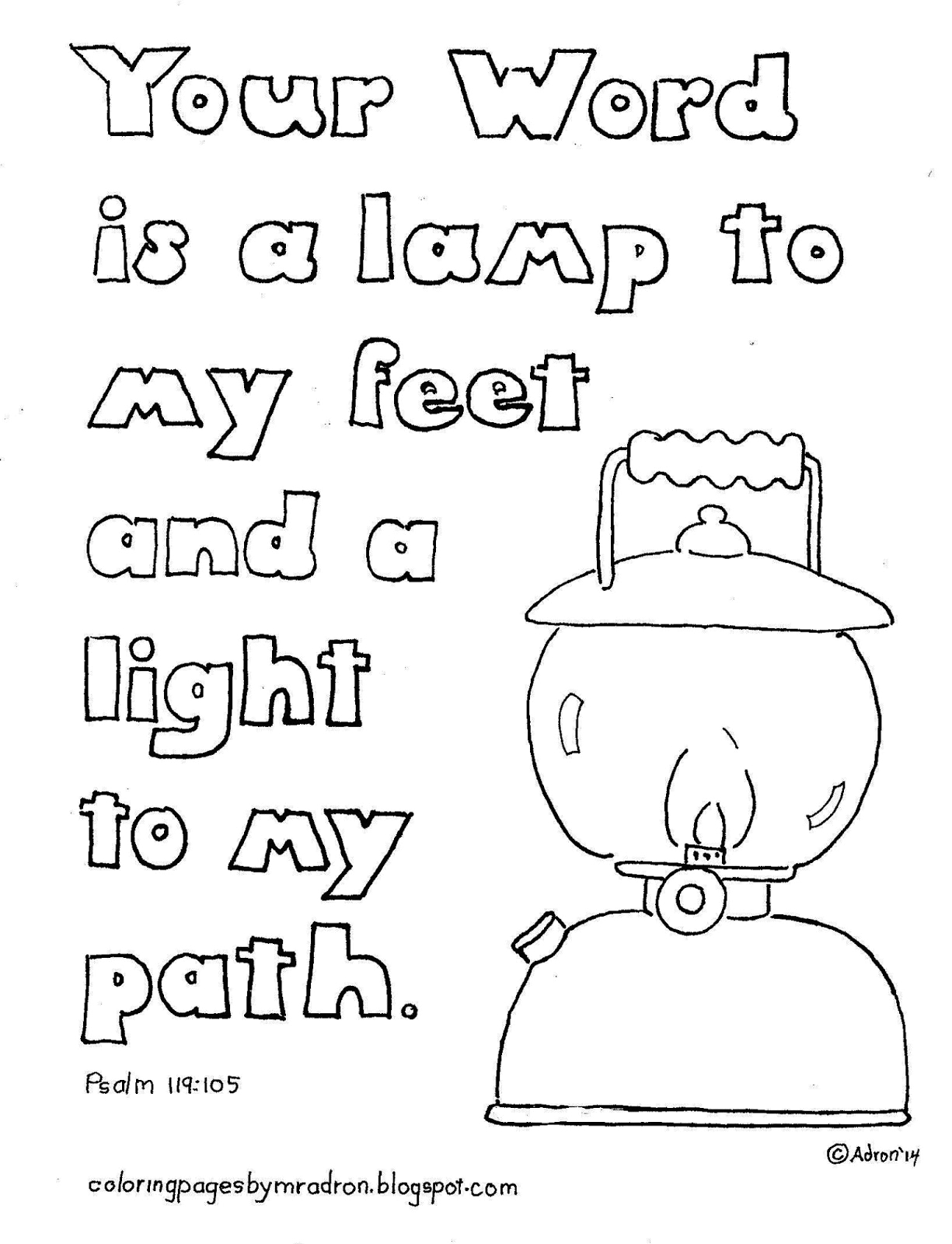 Your Word is A Lamp Unto My Feet Coloring Page Your Word is A Lamp Unto My Feet Coloring Page High Resolution