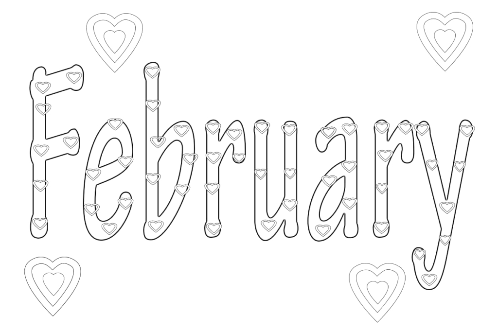 free printable 12 months of the year coloring pages