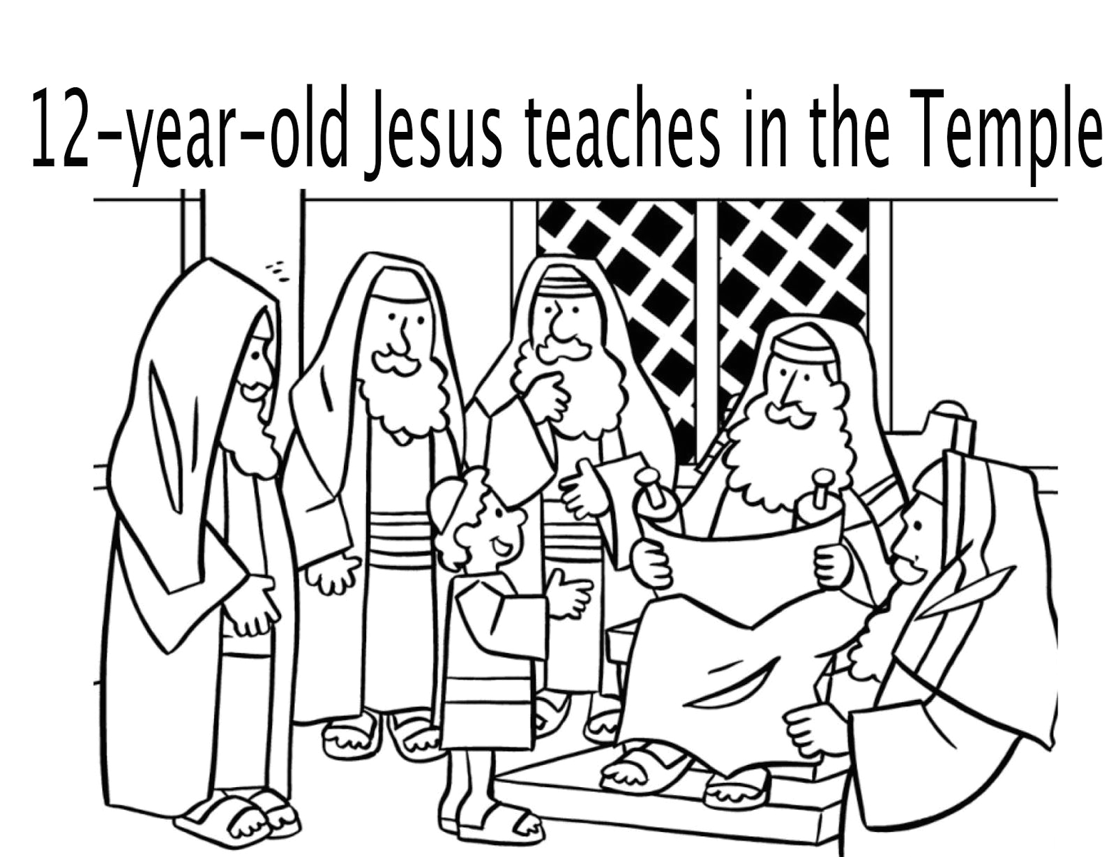 12 Year Old Jesus In the Temple Coloring Page Boy Jesus Teaching In the Temple 12 Years Old Coloring