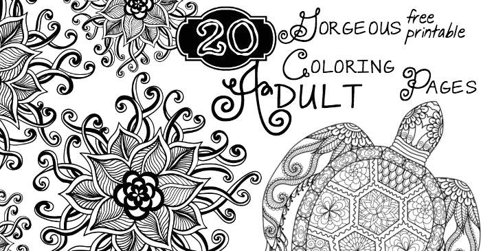 20 Gorgeous Free Printable Adult Coloring Pages 20 Gorgeous Free Printable Adult Coloring Pages Nerdy Mamma