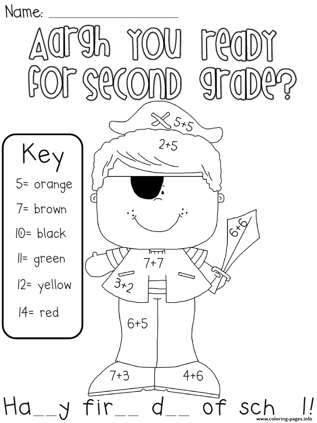 are you ready for second grade printable coloring pages book