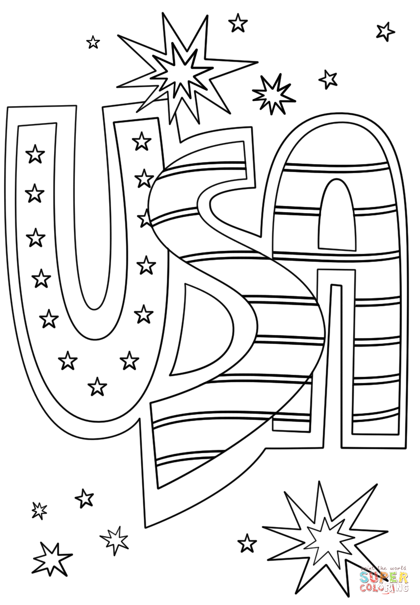 139 4th of july coloring page