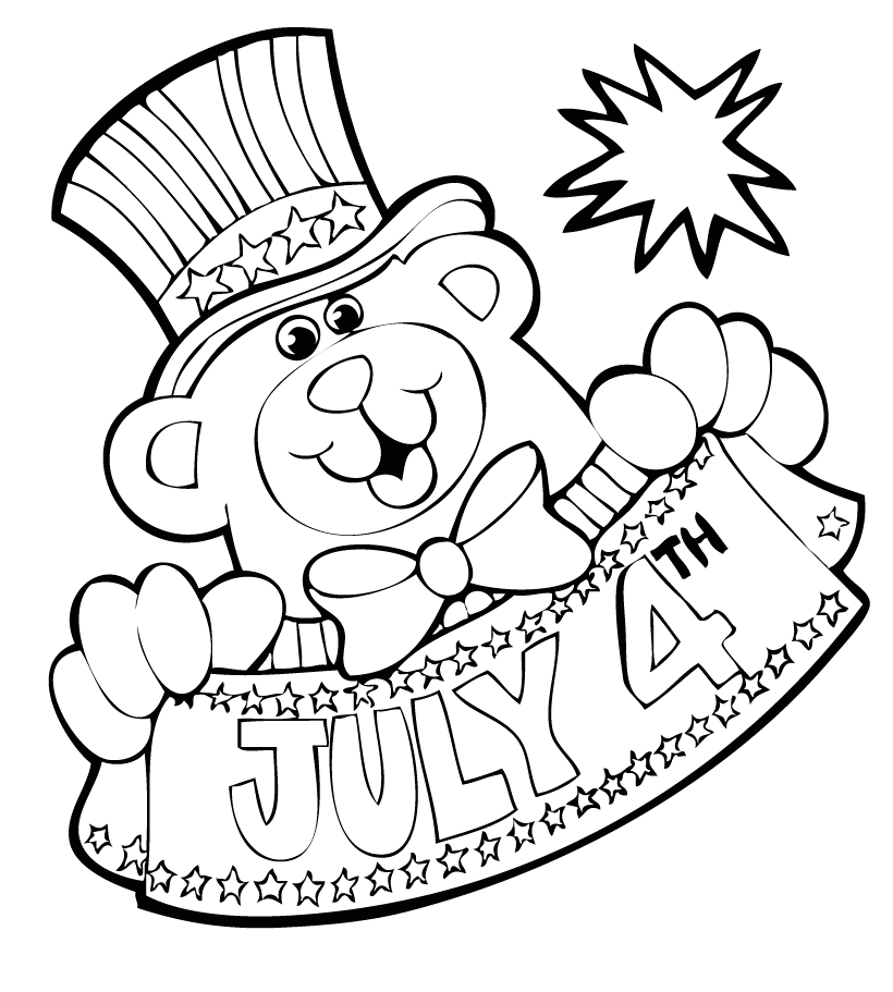 4th Of July Coloring Pages for Kids Free Coloring Pages Fourth Of July Coloring Pages