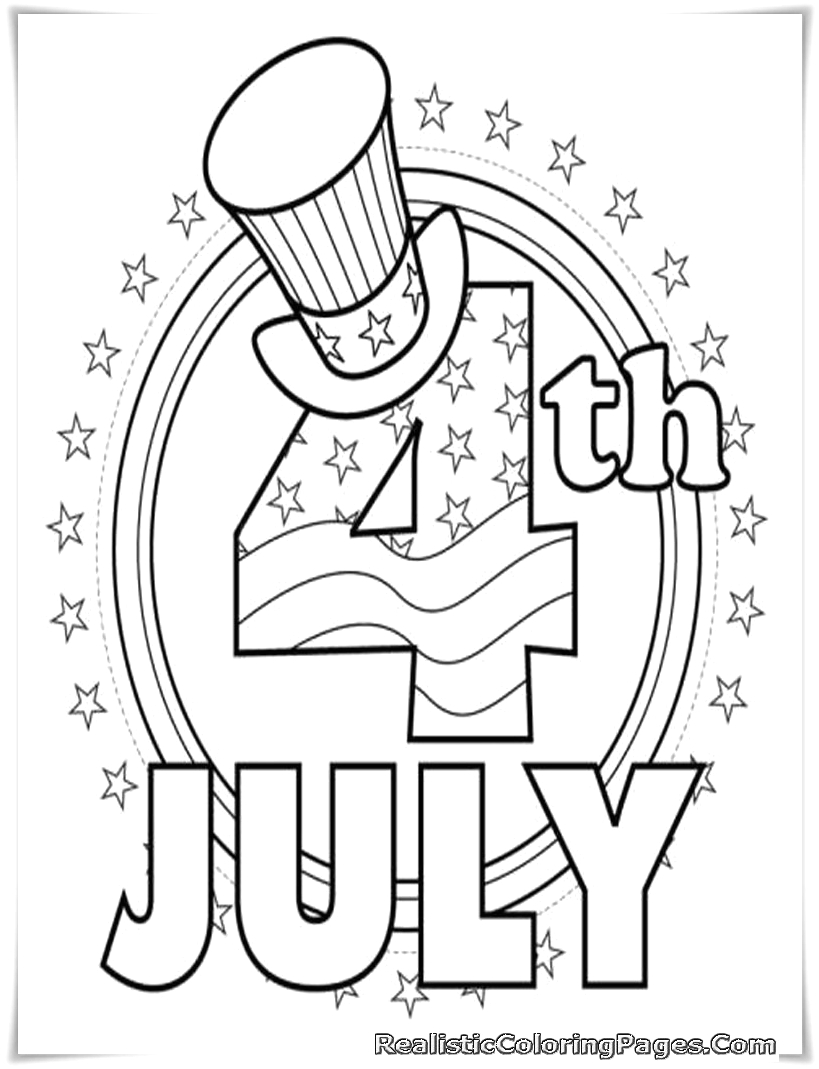 4th Of July Coloring Pages for Preschoolers Fourth July Coloring Pages