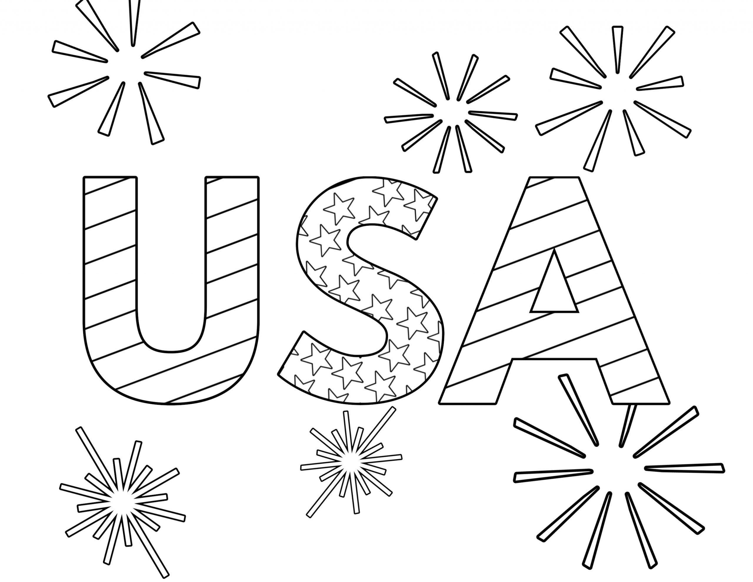 4th Of July Coloring Pages Free to Print Free Printable 4th Of July Coloring Pages Paper Trail Design