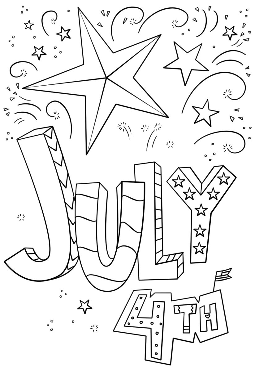 4th Of July Coloring Pages to Print 4th July Coloring Pages Printable Templates for Kids
