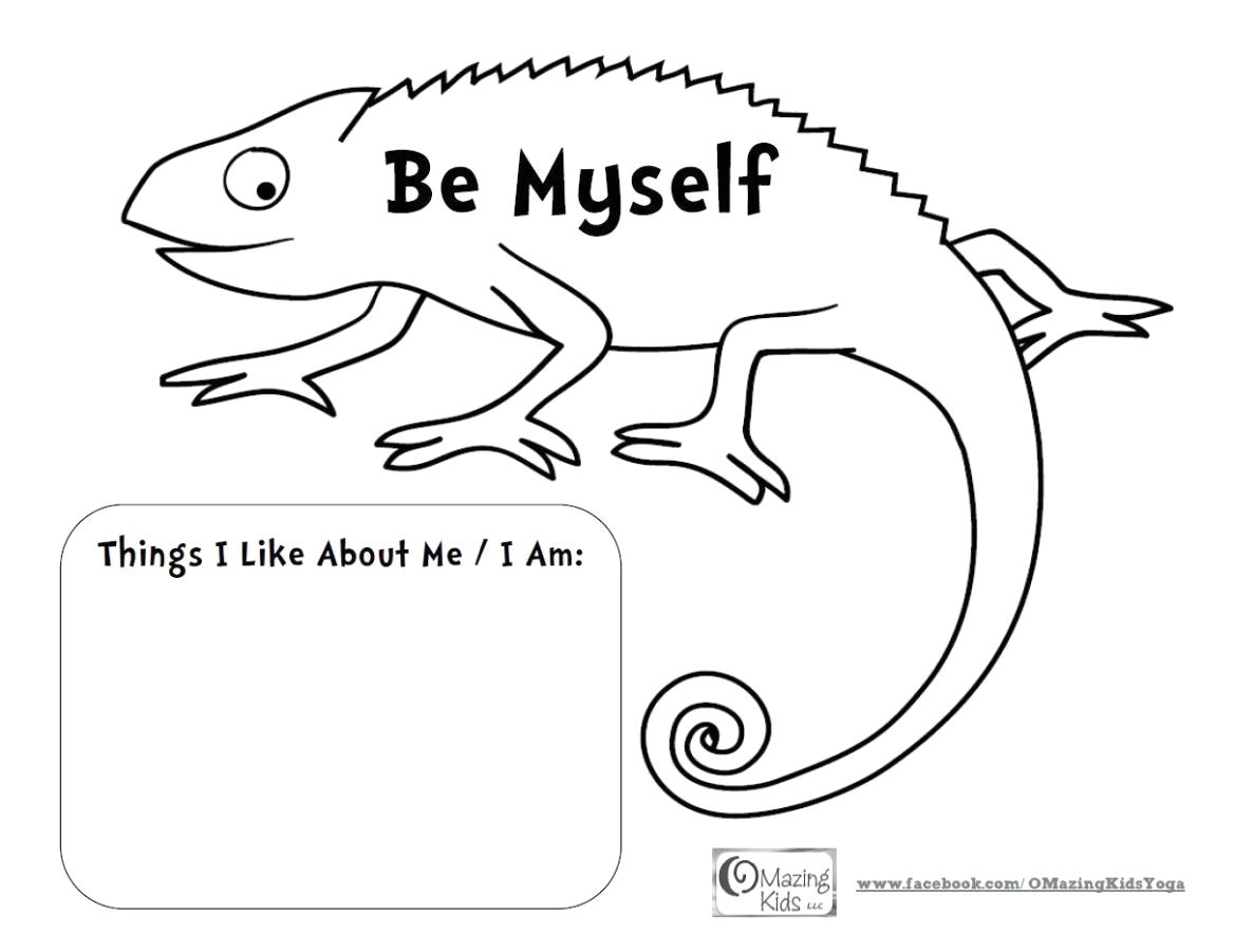 A Color Of His Own Coloring Page A Color Of His Own & the Mixed Up Chameleon Lesson Plan