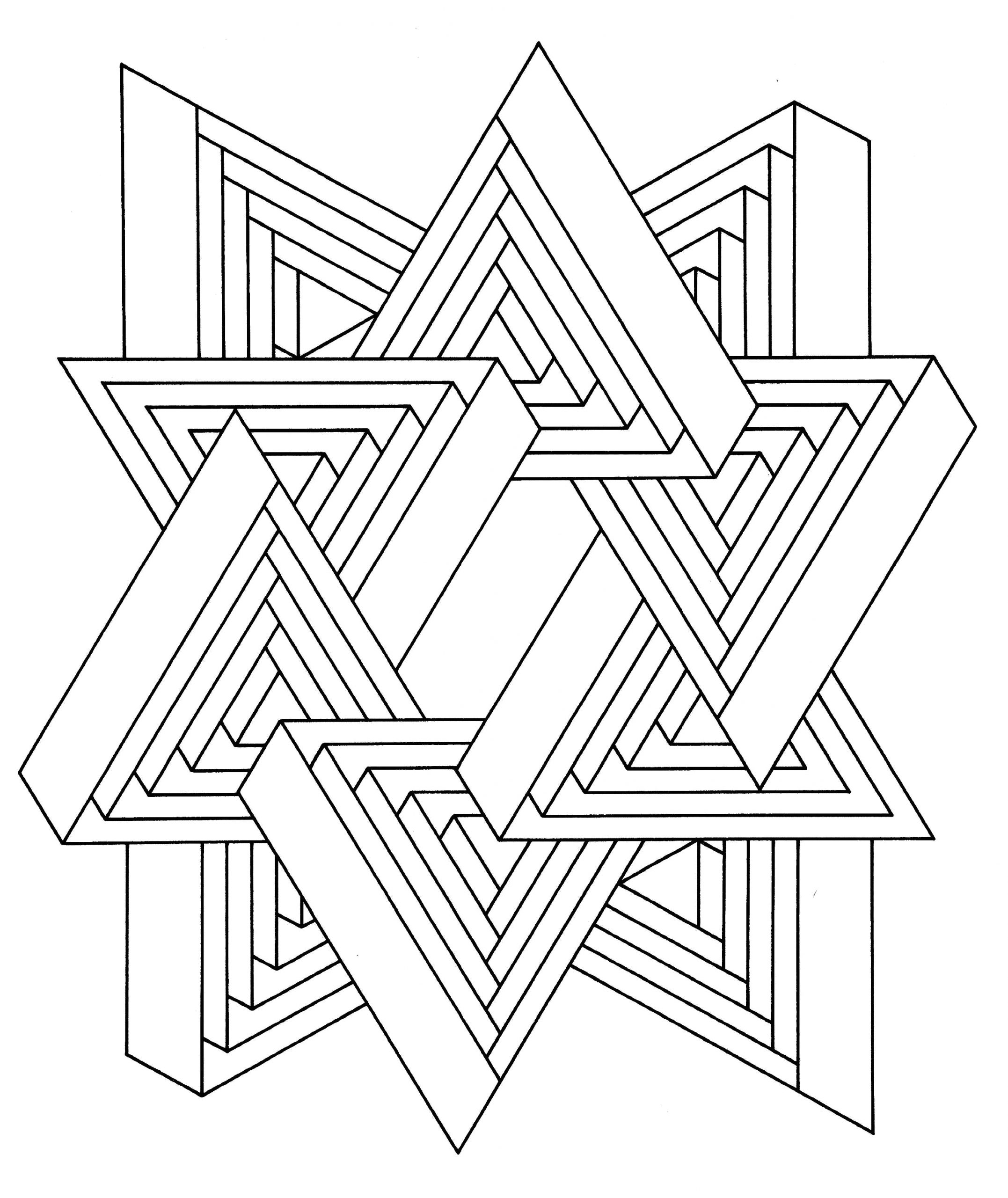 optical illusion coloring pages printable