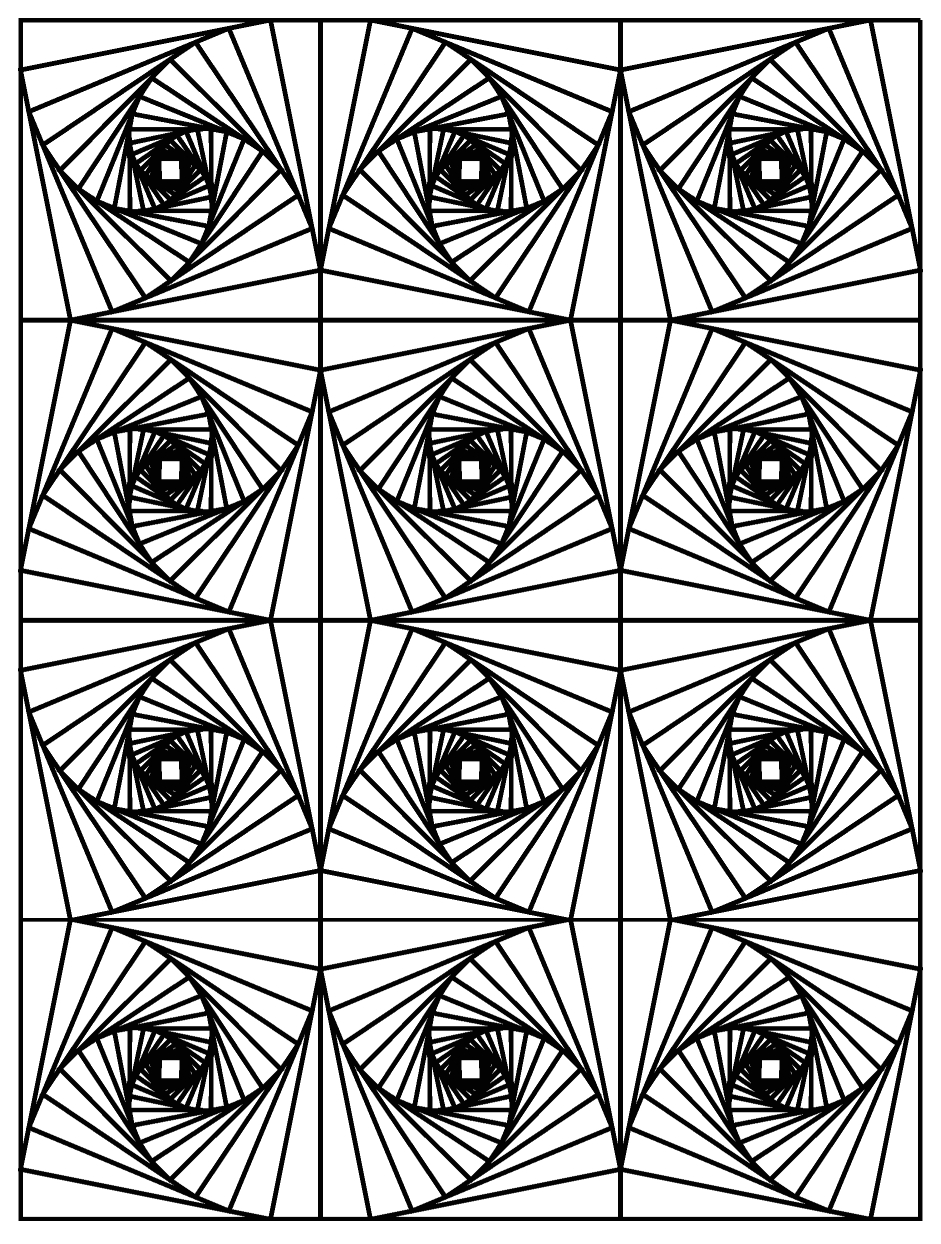 optical illusion coloring pages for adults