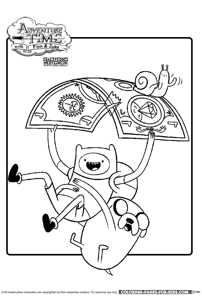 adventure time coloring page 07