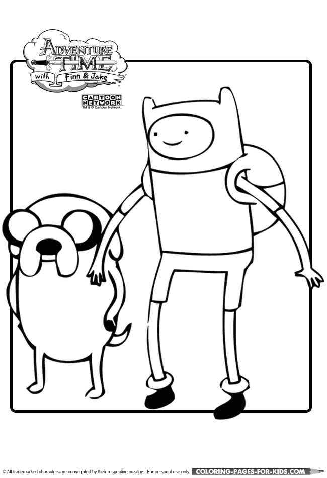 adventure time coloring page 12