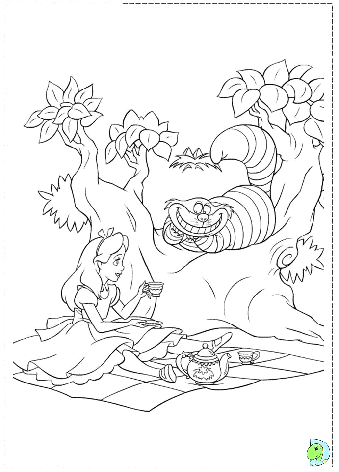 creepy alice in wonderland coloring pages sketch templates