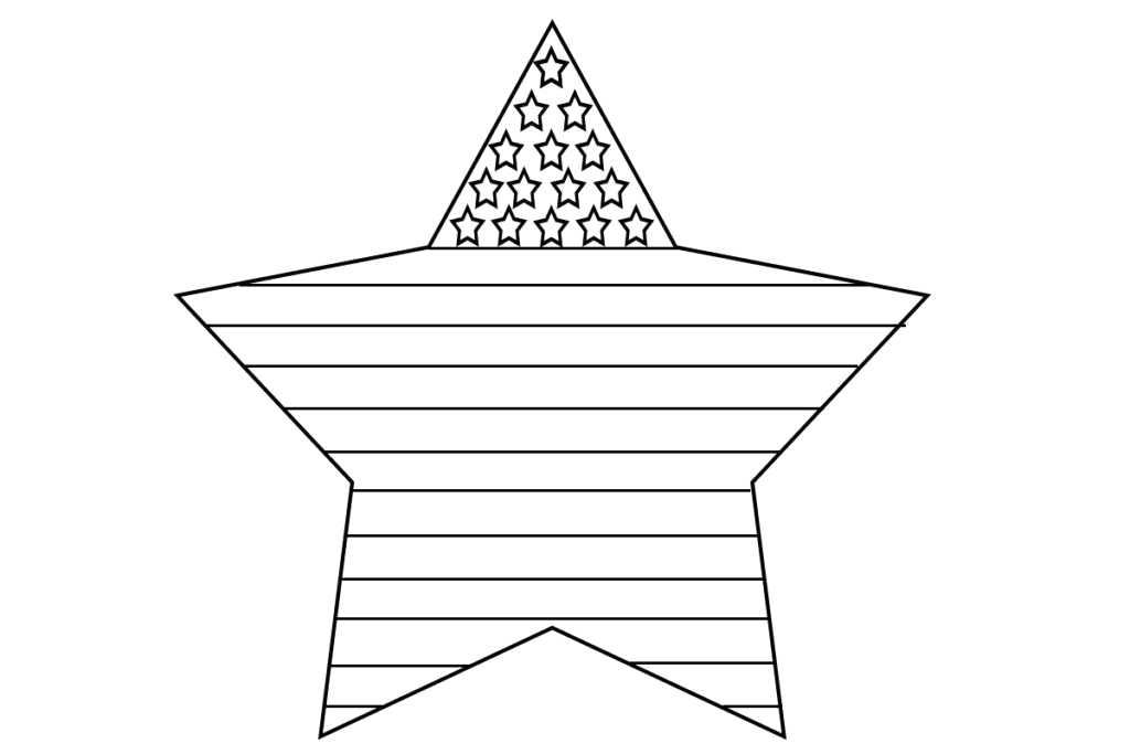 American Flag Coloring Page for First Grade American Flag Coloring Page for First Grade