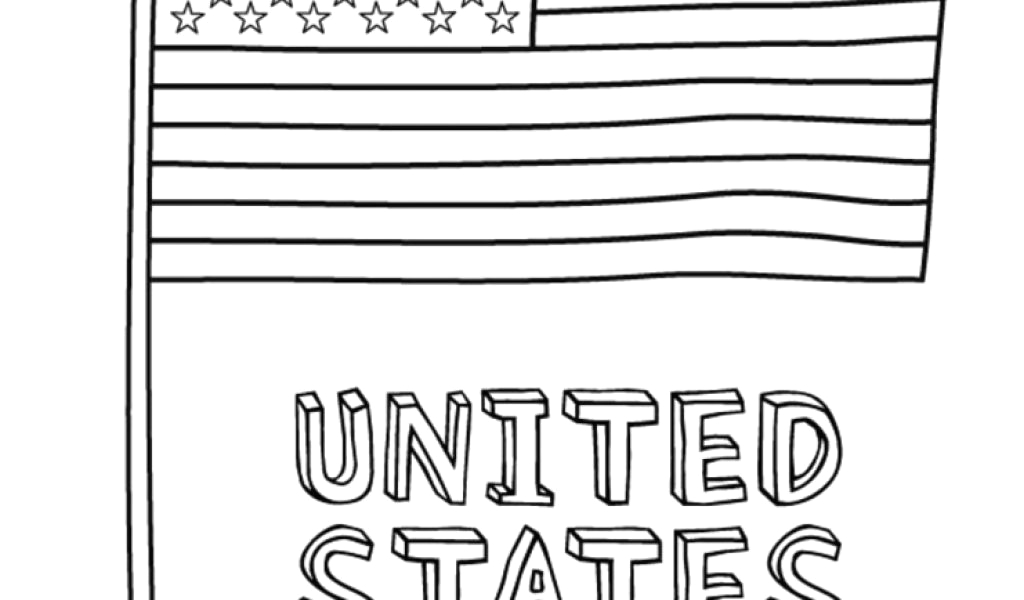 american flag coloring pages for first grade