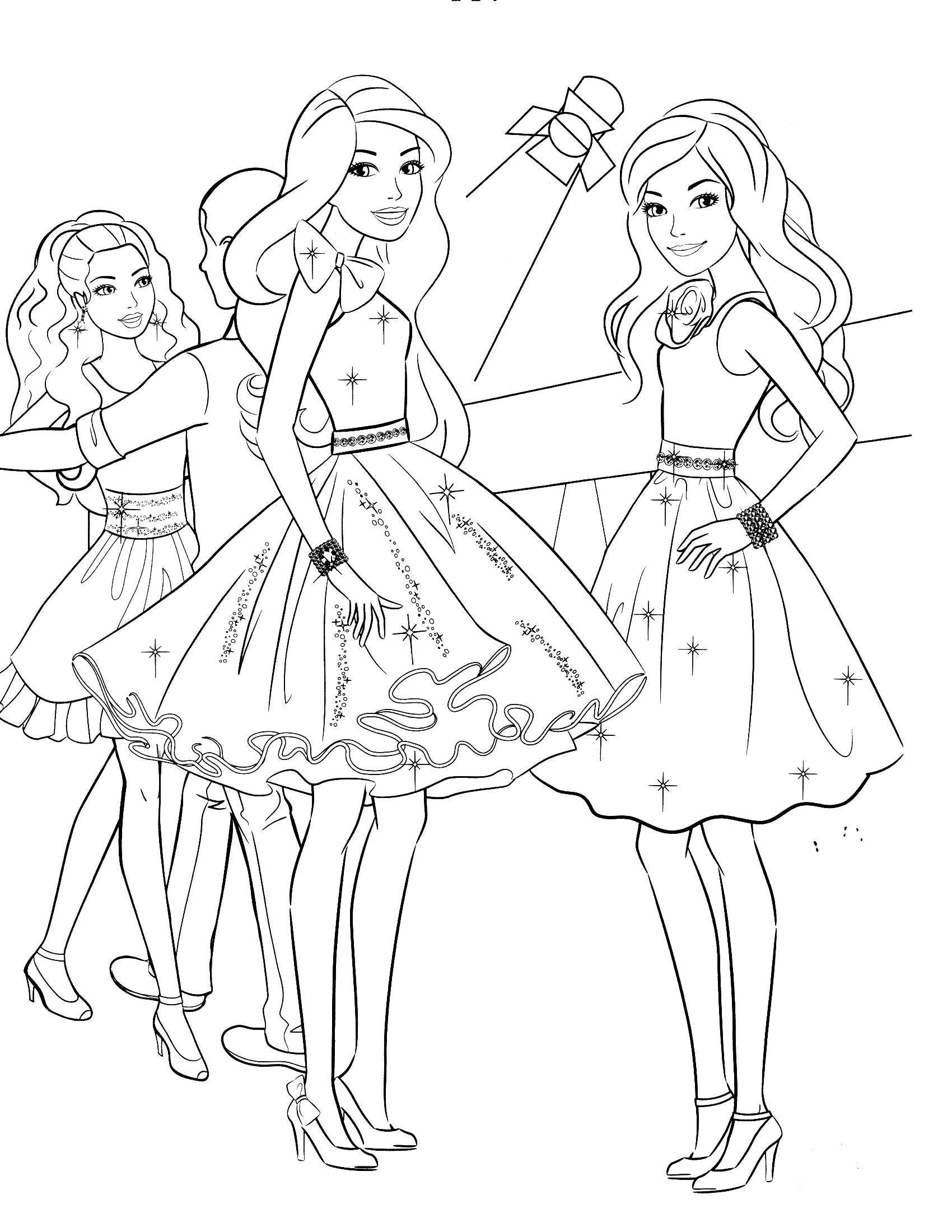Barbie A Fashion Fairytale Coloring Pages to Print Barbie Coloring Pages Fashion Fairytale