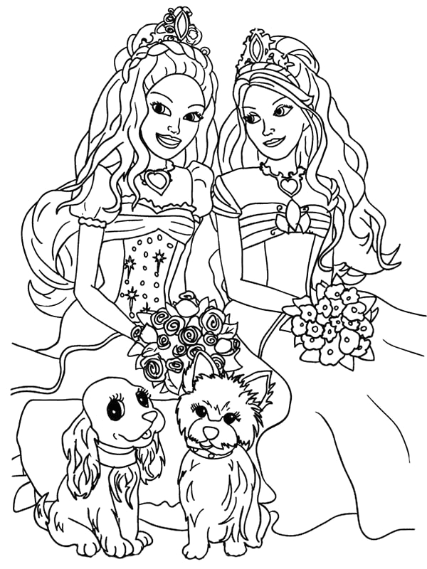 Barbie and the Diamond Castle Coloring Pages Barbie and the Diamond Castle Free Colouring Pages