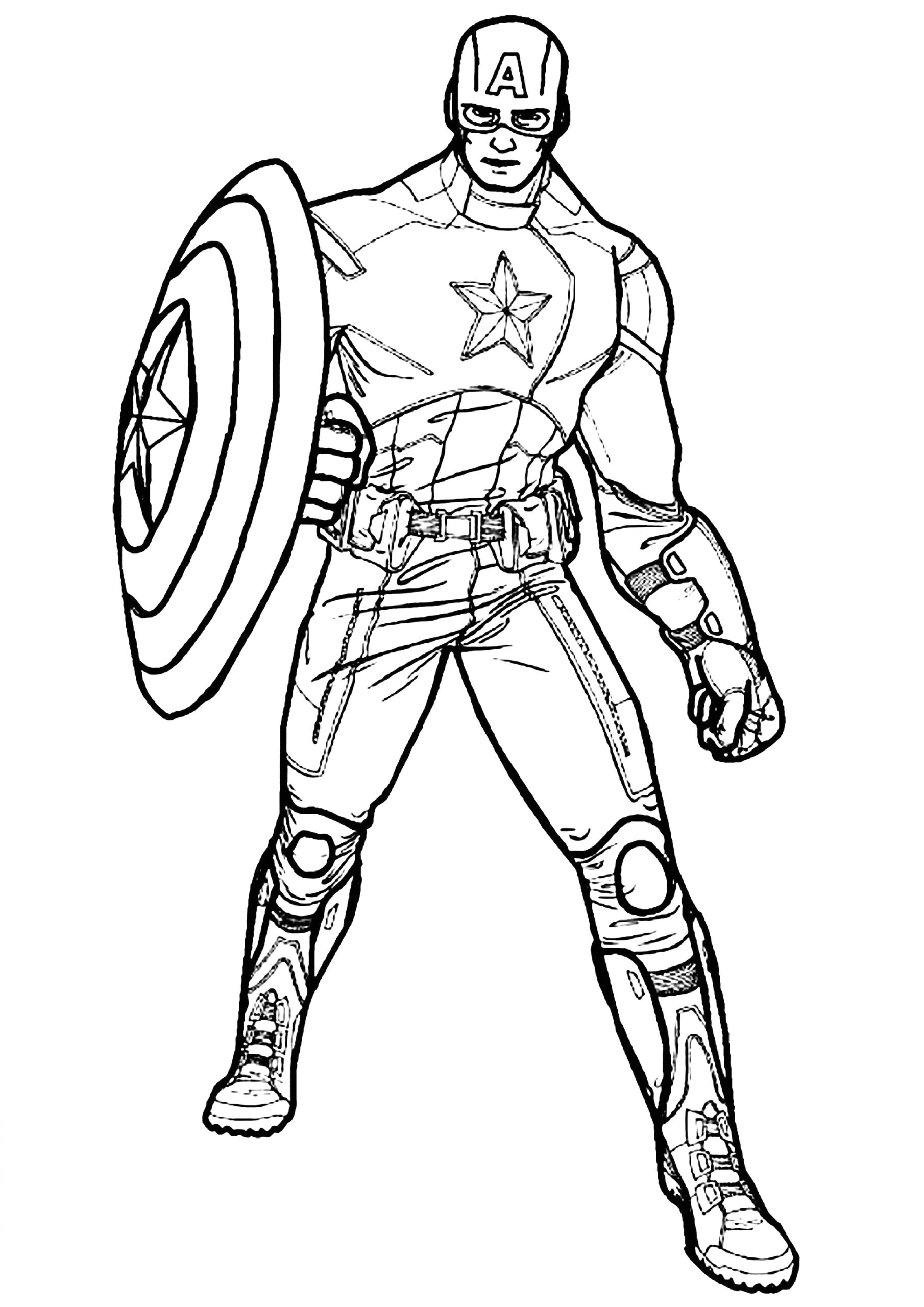 Captain America Coloring Pages Free to Print Captain America Captain America Kids Coloring Pages