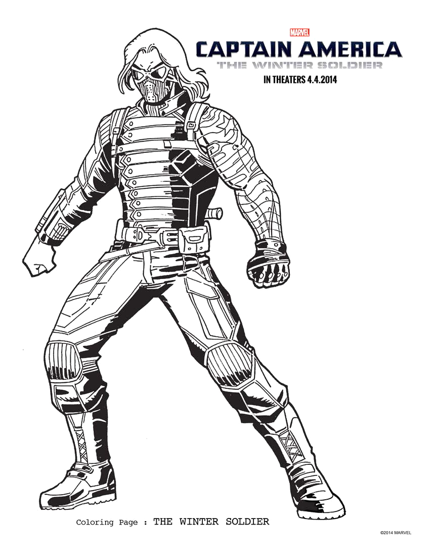 captain america the winter sol r coloring sheets