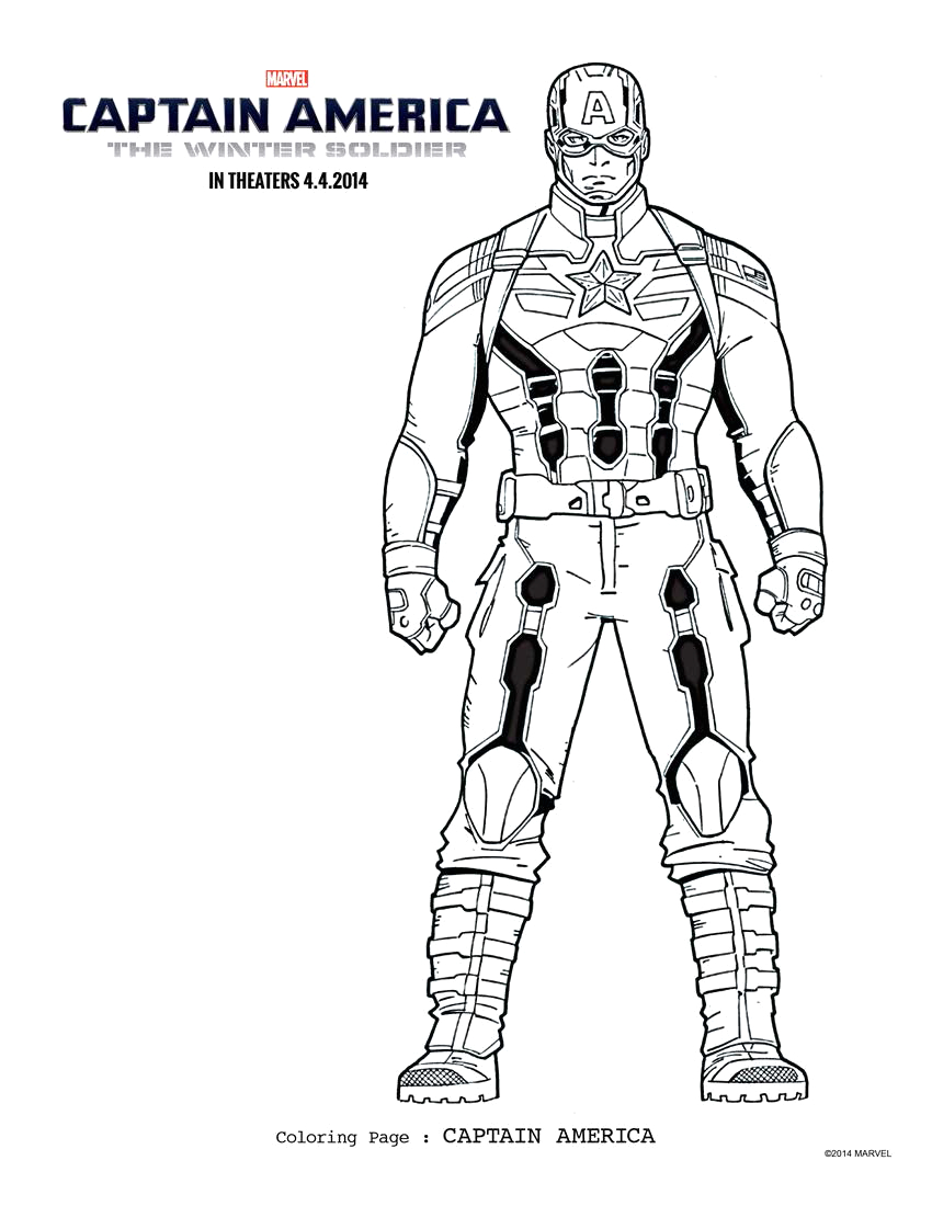 Captain America the Winter soldier Coloring Pages Captain America the Winter sol R Coloring Sheets
