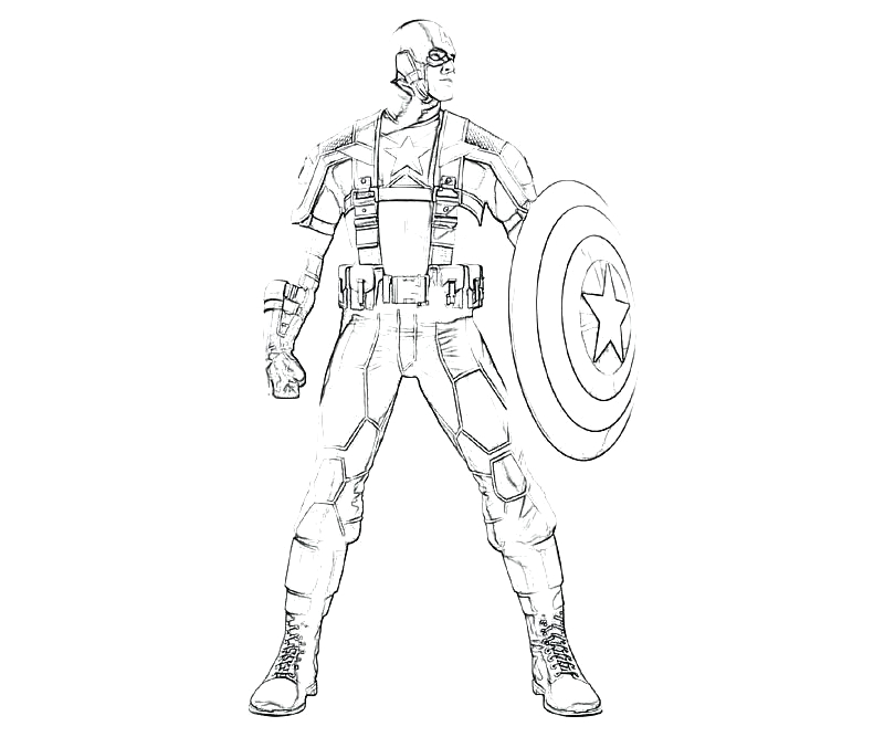 Captain America the Winter soldier Coloring Pages Winter sol R Coloring Pages at Getdrawings
