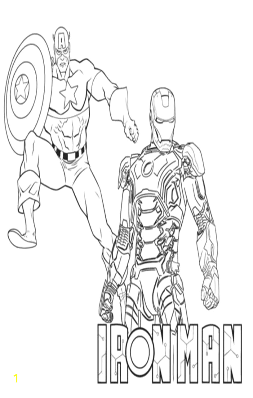 iron man vs captain america coloring pages