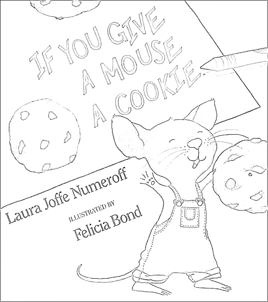 cookie coloring pages printable