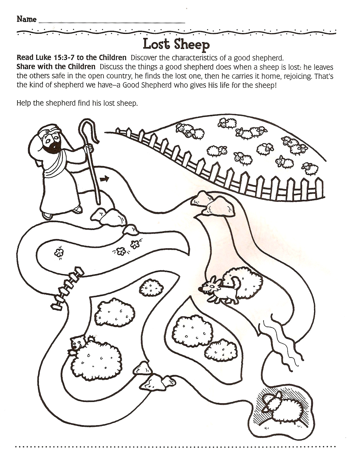 Coloring Pages for the Lost Sheep Parable Parable the Lost Sheep Coloring Page Unique 1000