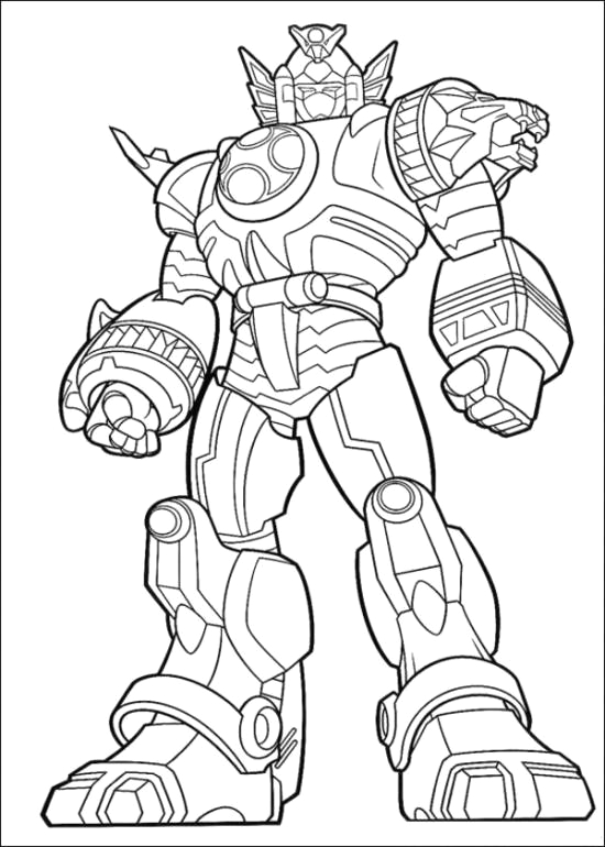 power rangers jungle fury coloring page