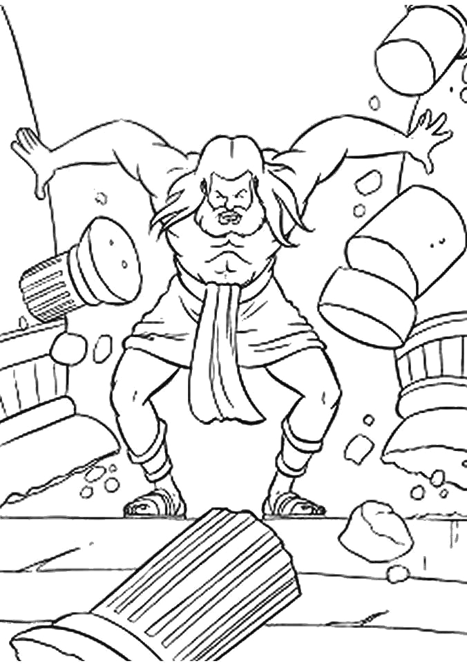 Coloring Pages Of Samson In the Bible Pin Em Old Samson