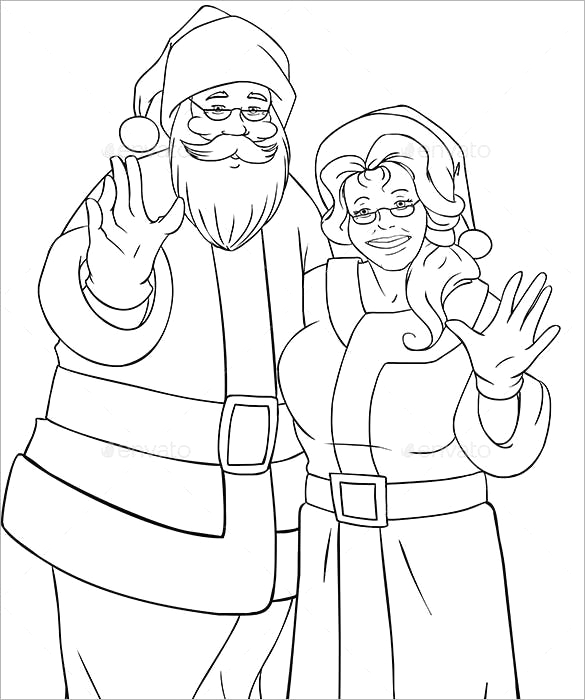 christmas colouring template