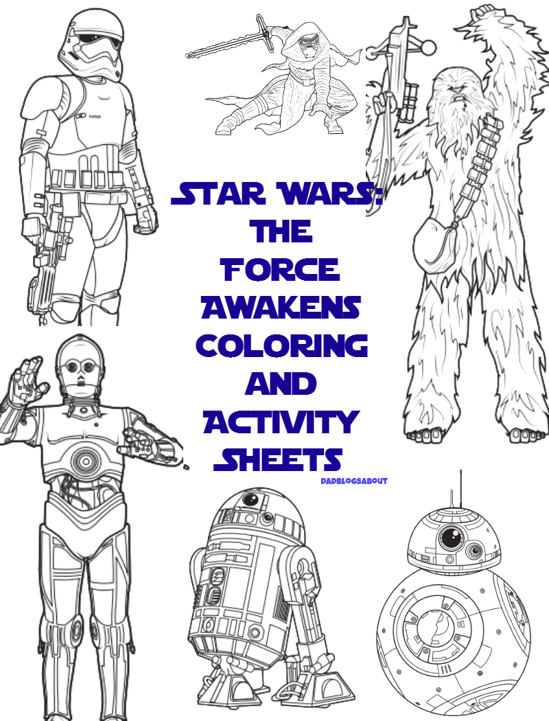 star wars the force awakens coloring activity sheets