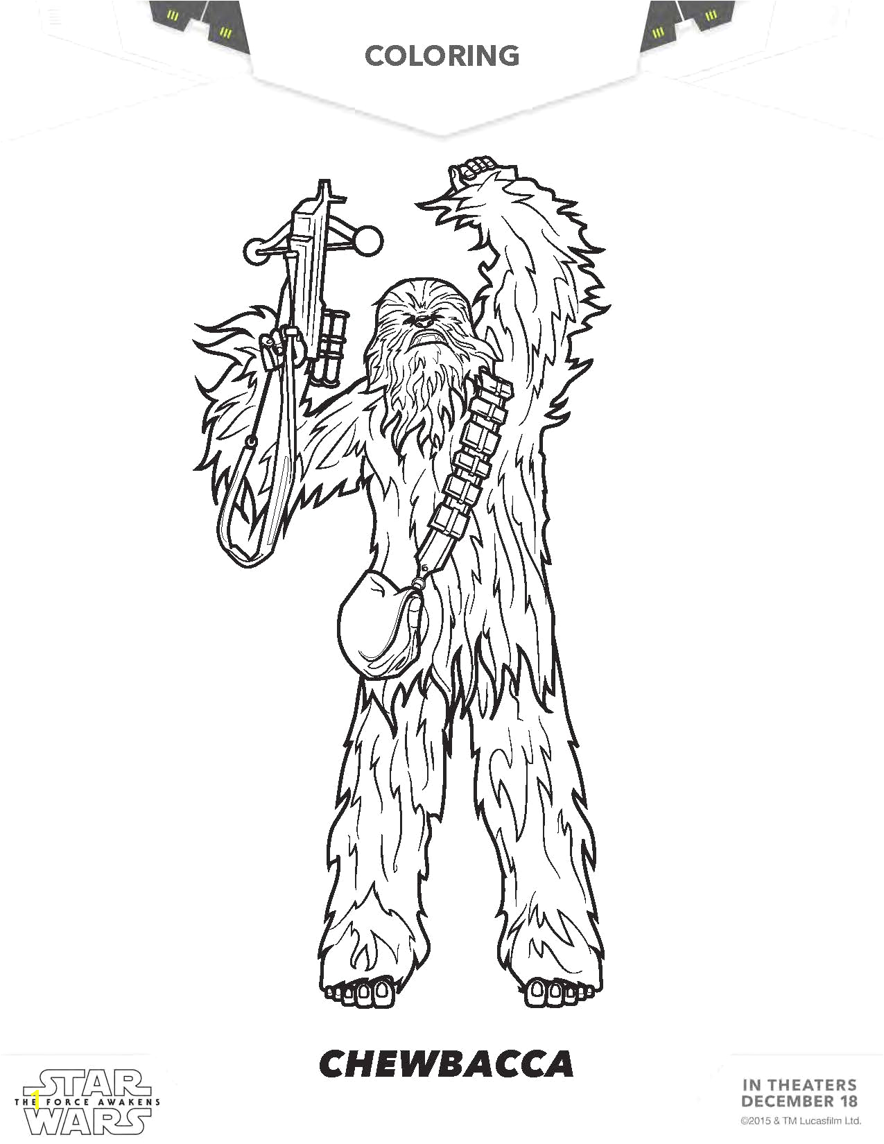 star wars the force awakens coloring pages to print