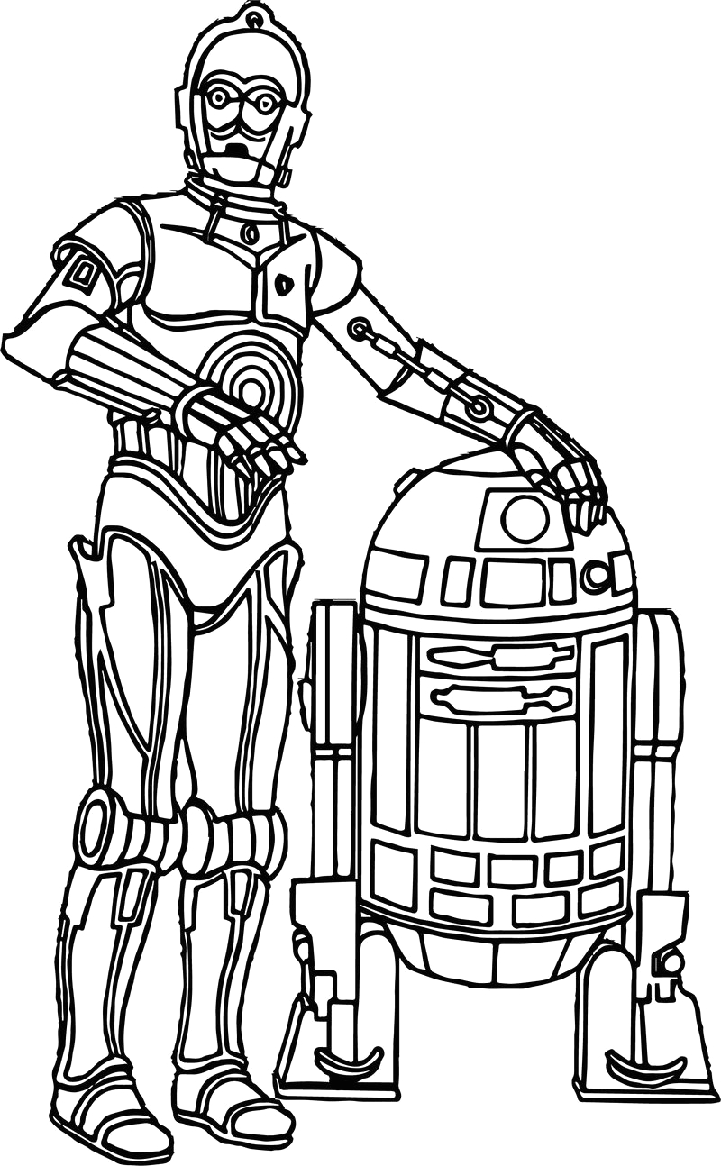star wars the force awakens robot character coloring pages