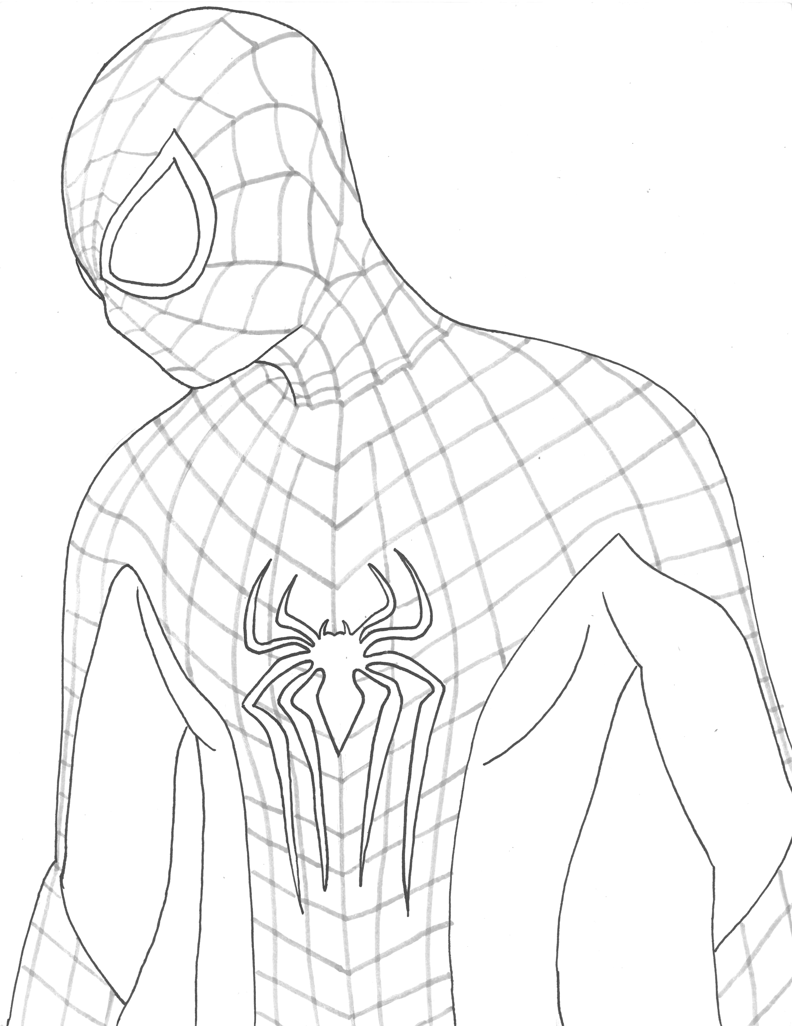Coloring Pages Of the Amazing Spider Man the Amazing Spider Man Drawing at Getdrawings