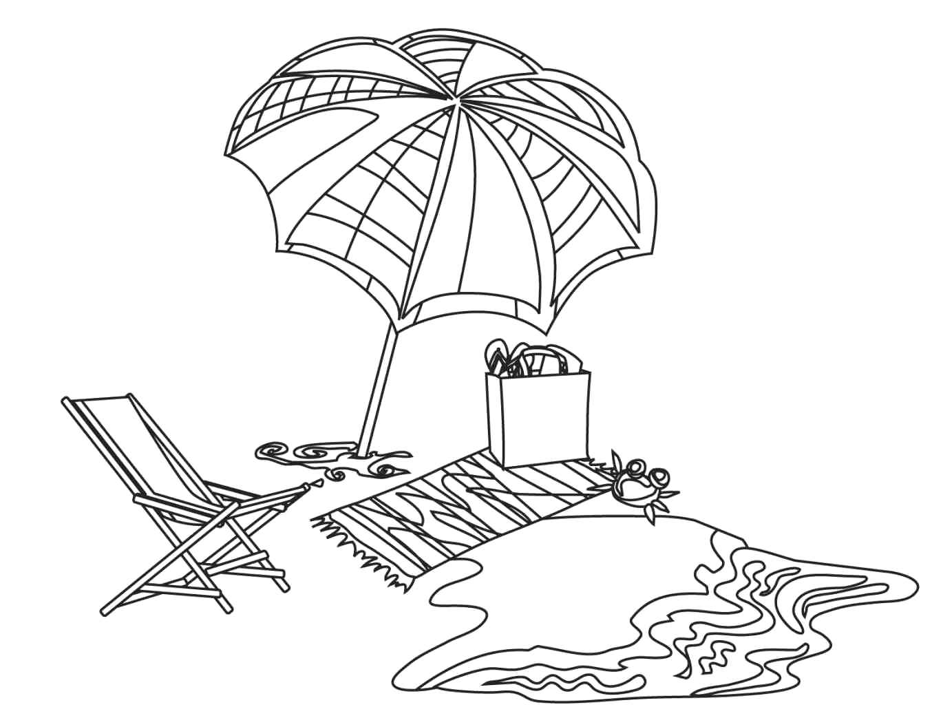 Coloring Pages Of the Beach to Print Free Printable Beach Coloring Pages for Kids