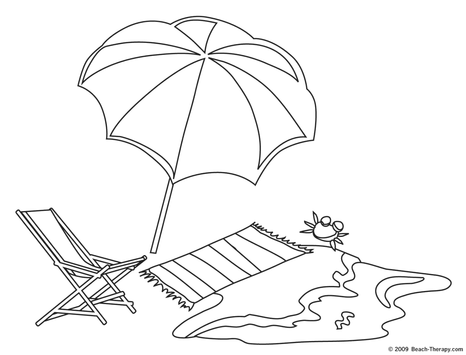 mexico beach coloring page