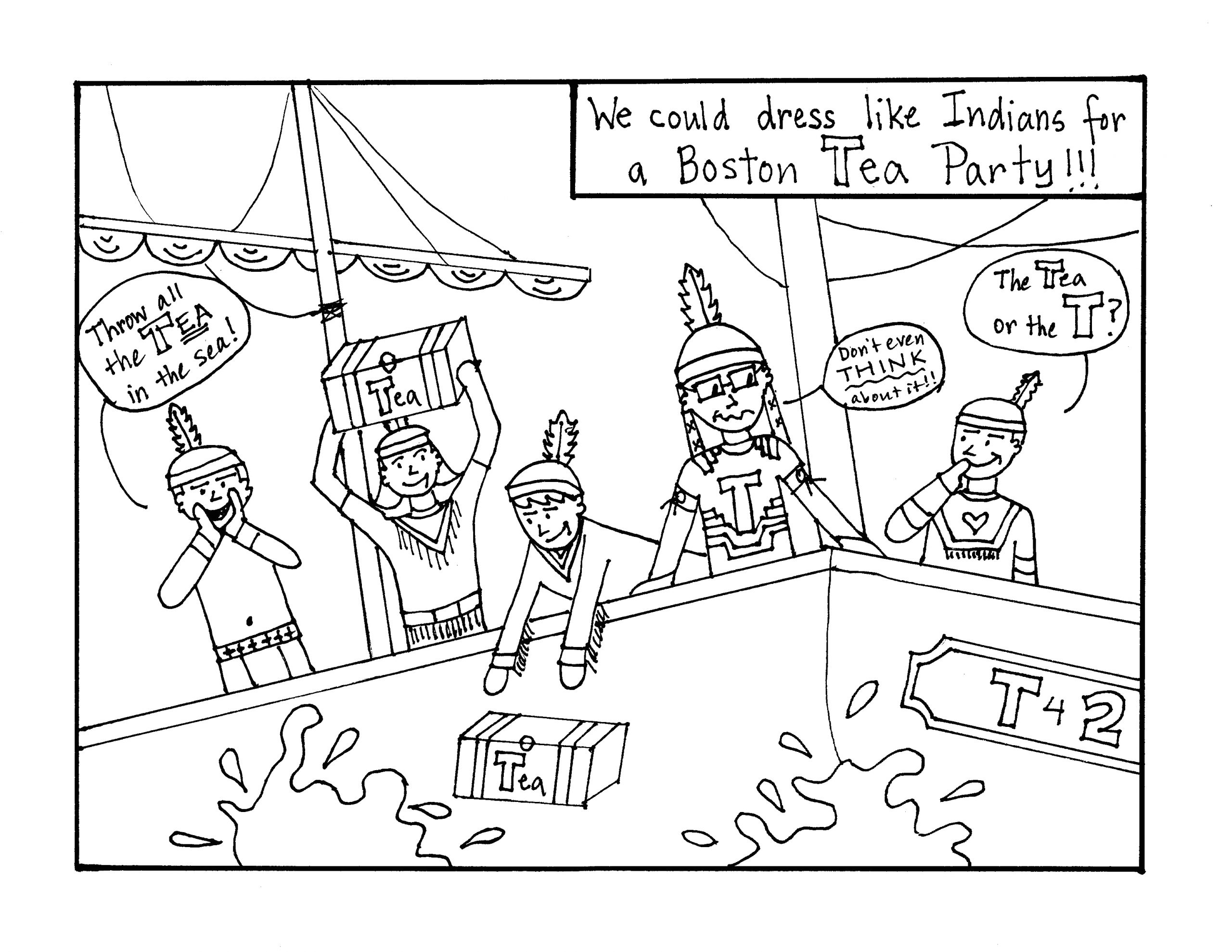 Coloring Pages Of the Boston Tea Party Boston Tea Party Coloring Page Coloring Home