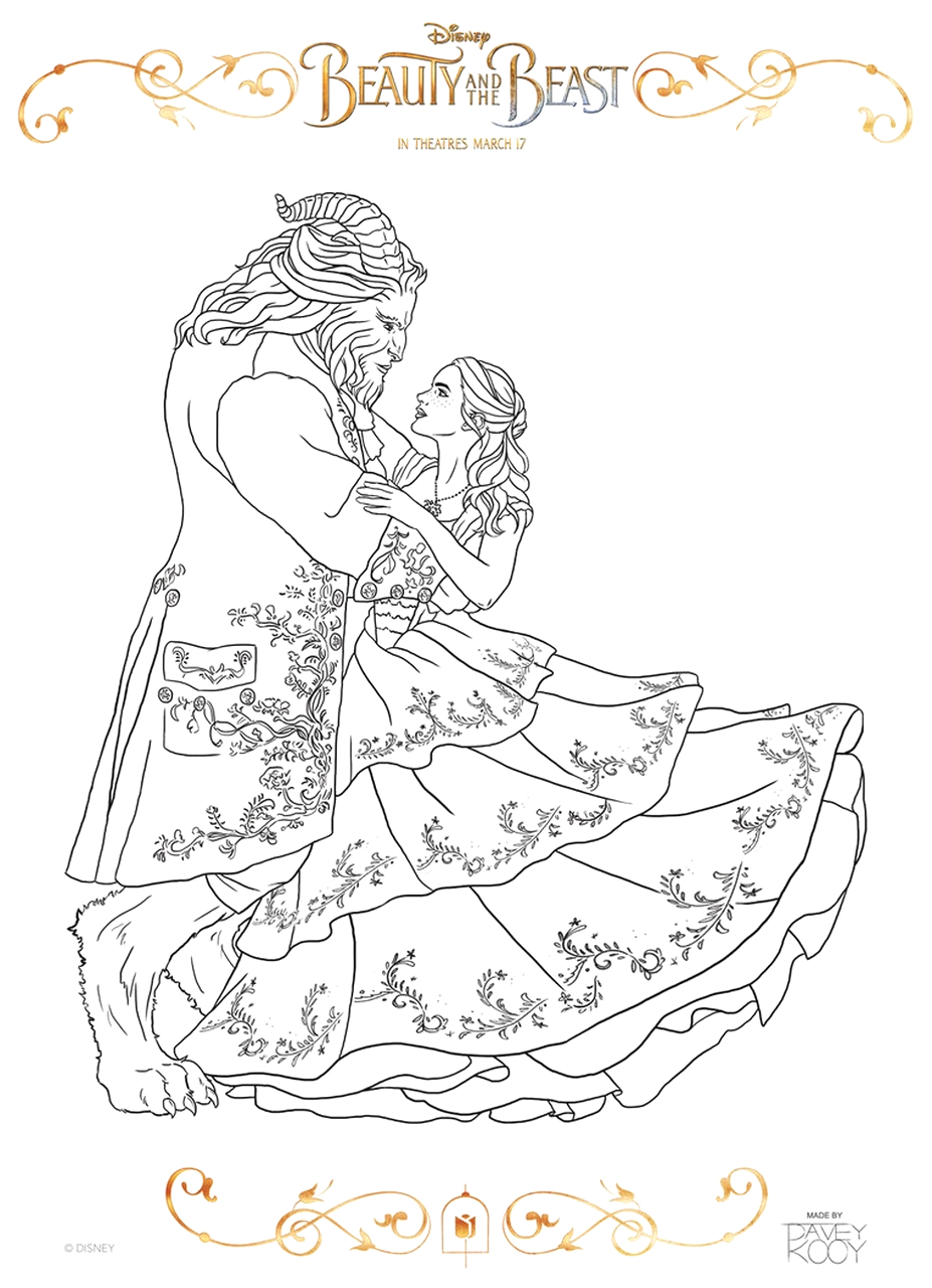 Disney Beauty and the Beast 2017 Coloring Pages Get This Beauty and the Beast 2017 Coloring Pages Belle