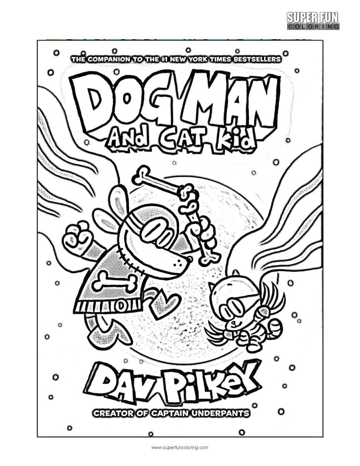 dog man coloring pages