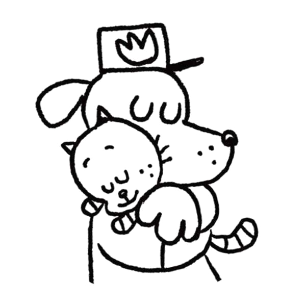 dog man coloring pages and cat