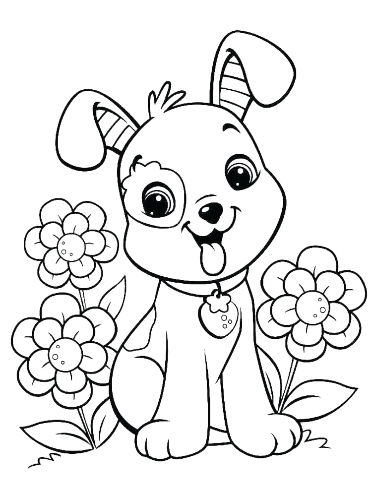 printable cat and dog coloring pages
