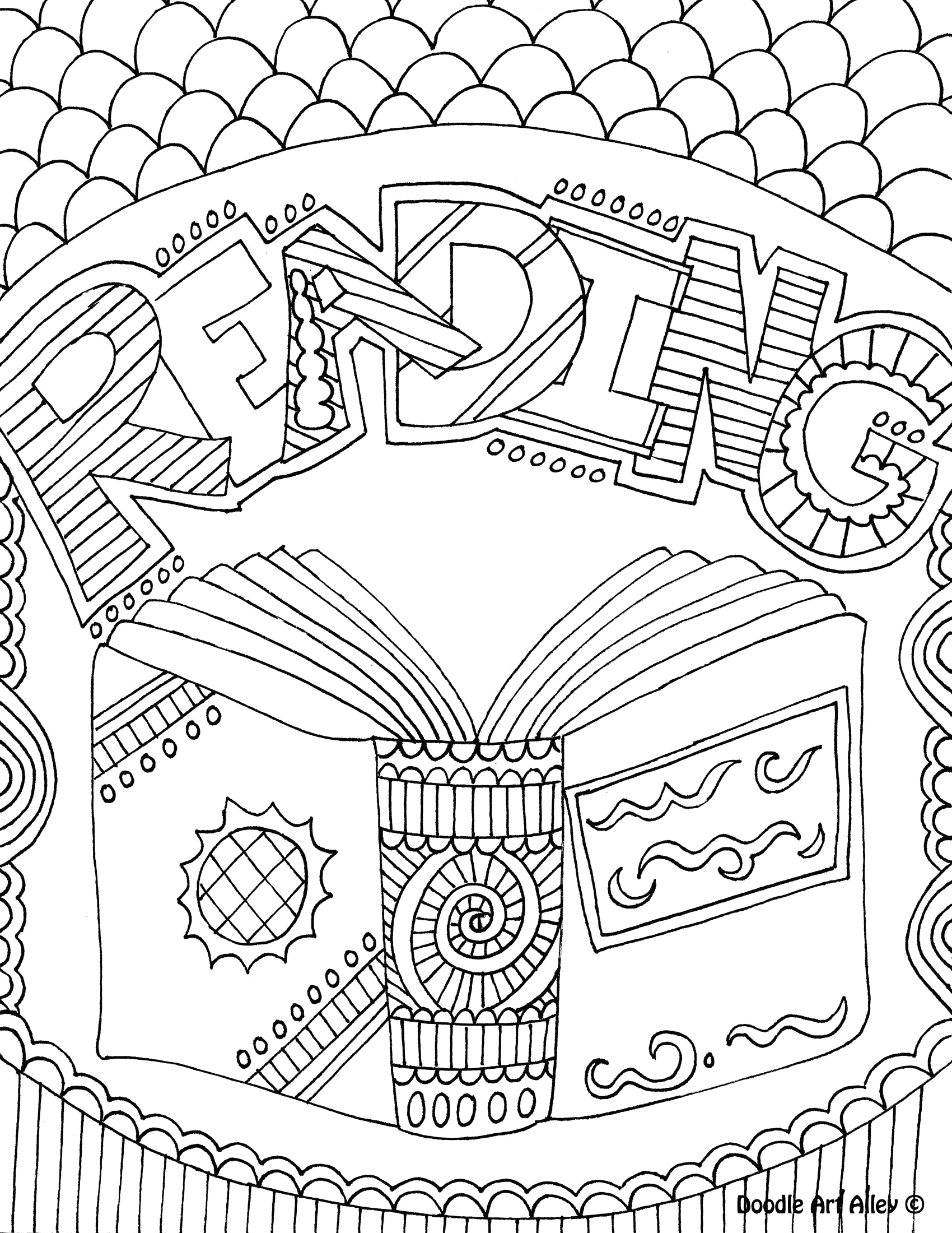 Doodle Art Alley School Subject Coloring Pages Coloring Book Doodle Art Alley