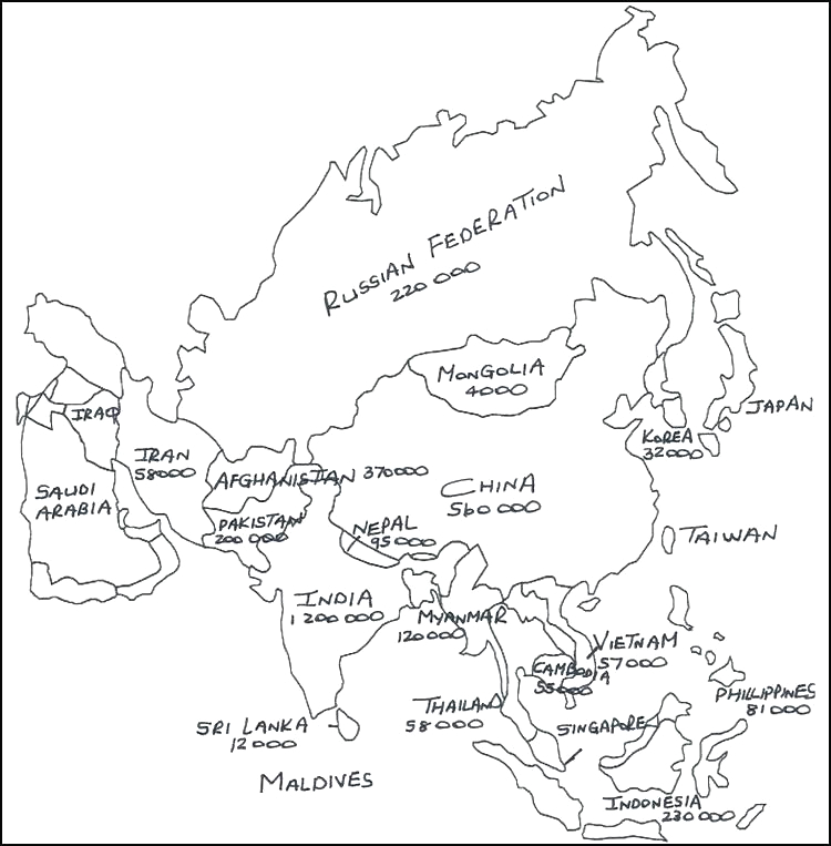 europe map coloring page