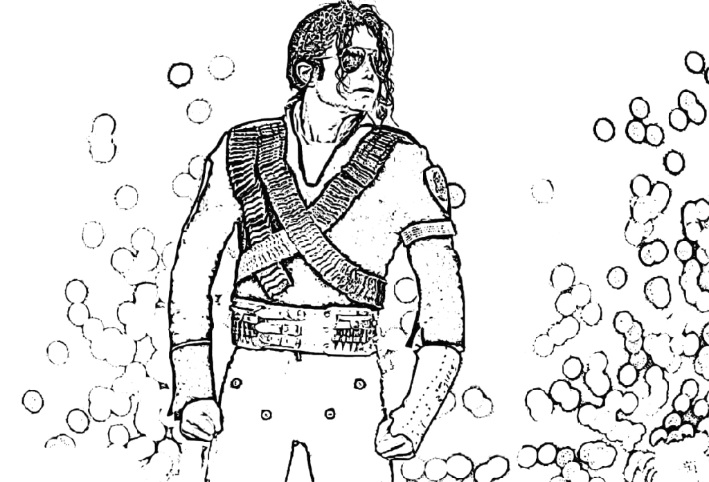 michael jackson coloring pages free