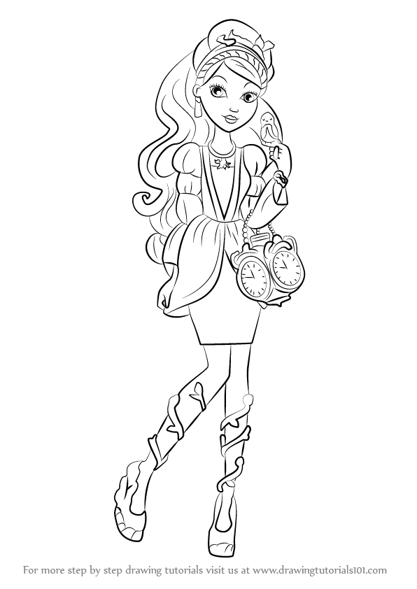 how to draw ashlynn ella from ever after high