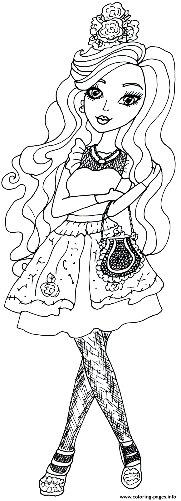 ever after high hat tastic briar beauty printable coloring pages book